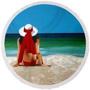 Beach Baby Round Beach Towel