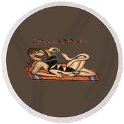 Beach Baby T-shirt Round Beach Towel
