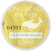 Beach Badge Long Beach Island 2 Round Beach Towel