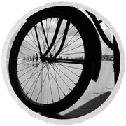 Beach Bicycle Round Beach Towel