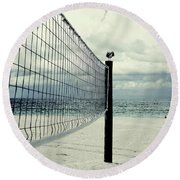 Beach Bird Round Beach Towel