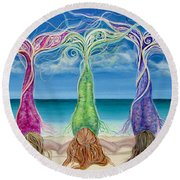 Beach Bliss Buddies Round Beach Towel