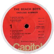 Beach Boys Endless Summer Lp Label Round Beach Towel