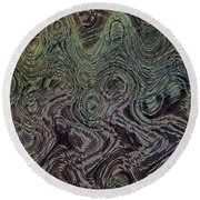 Beach Bubbles Abstract Round Beach Towel