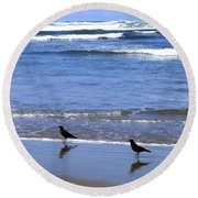 Beach Buddies Round Beach Towel