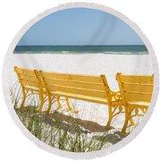 Beach Chairs By Darrell Hutto Round Beach Towel