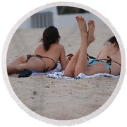 Beach Combers Round Beach Towel