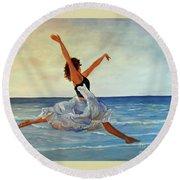 Beach Dancer Round Beach Towel
