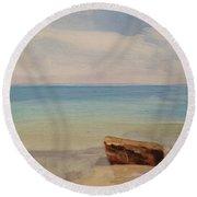 Beach Day Woodshole Round Beach Towel