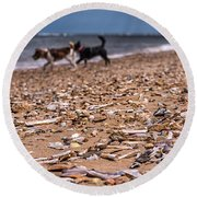 Beach Dogs Round Beach Towel