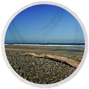 Beach Driftwood Round Beach Towel