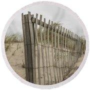 Beach Fence Round Beach Towel