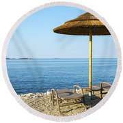 Beach For Two Round Beach Towel