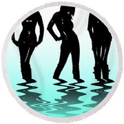 Beach Girls Round Beach Towel