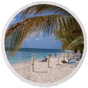 Beach Grand Turk Round Beach Towel