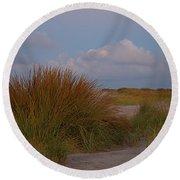 Beach Grass I I Round Beach Towel