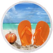 Beach Halloween  Round Beach Towel