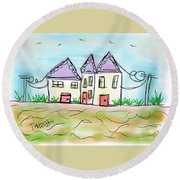 Beach Homes Round Beach Towel