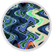 Beach Hotel Abstract 8102-3 Round Beach Towel