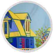 Beach Houses Round Beach Towel