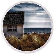 Beach Hut Round Beach Towel