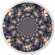 Beach Kaleidoscope Round Beach Towel