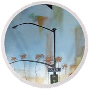 Beach Lights Round Beach Towel