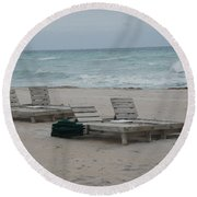 Beach Loungers Round Beach Towel