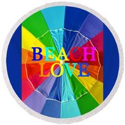 Beach Love Umbrella Spca Round Beach Towel