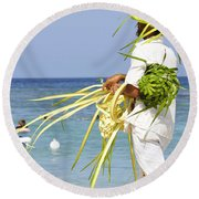Beach Man Round Beach Towel