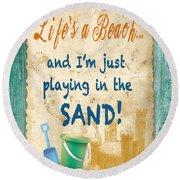 Beach Notes-jp3762 Round Beach Towel