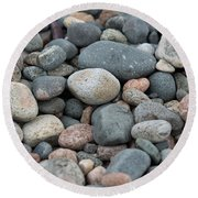 Beach Of Stones Round Beach Towel