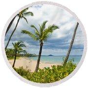 Beach On Maui 23 Round Beach Towel