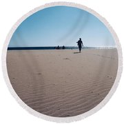 Beach Or Desert Round Beach Towel