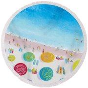 Beach Painting - Beach Bliss Round Beach Towel