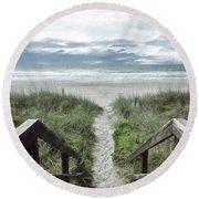 Beach Path Round Beach Towel