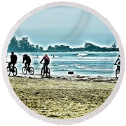 Beach Ride Round Beach Towel