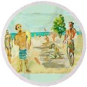 Beach Scence Round Beach Towel