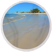 Beach Scene 3 Round Beach Towel