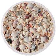 Beach Seashells Round Beach Towel