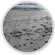 Beach, Self-named Round Beach Towel