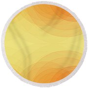 Beach Semi Circle Background Horizontal Round Beach Towel