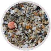 Beach Stones Round Beach Towel