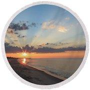 Beach Sunrise Round Beach Towel