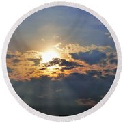 Beach Sunset Round Beach Towel