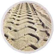 Beach Tracks Round Beach Towel