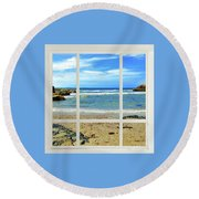 Beach View From Your Living Room Window Round Beach Towel