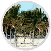 Beach Volleyball Round Beach Towel