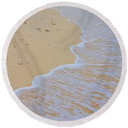 Beach Water Curves Round Beach Towel