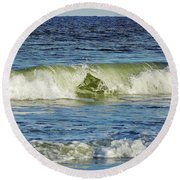 Beach Waves Round Beach Towel